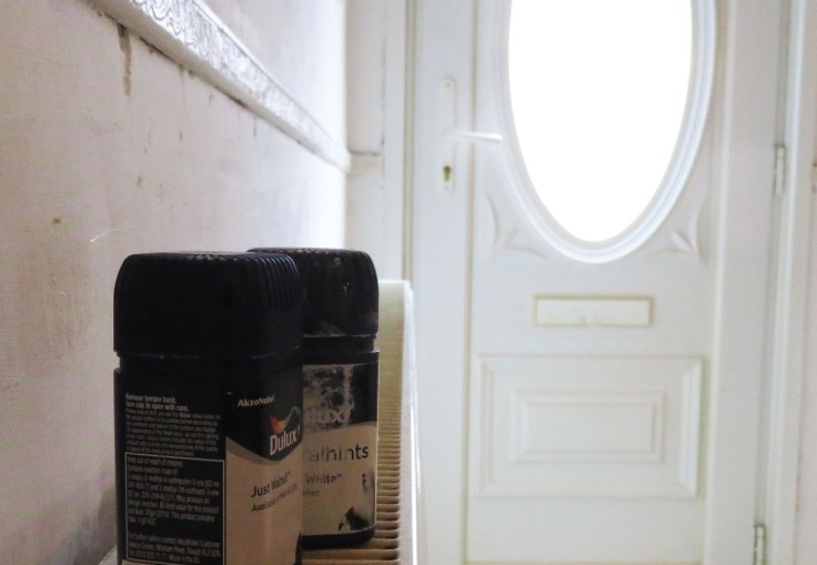 Two colours we might use for the walls #DIY #renovation #minimalist